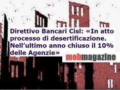 Studio First Cisl Banche, Messina, gli sportelli chiudono i territori soffrono