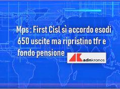Mps, accordo nuovi esodi, First Cisl, ripristinato calcolo tfr e fondo pensione