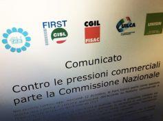 Contro pressioni commerciali parte Commissione Nazionale, comunicato unitario