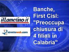 Chiusura Bper, First Cisl, in Calabria forte impatto sociale, piano va rivisto
