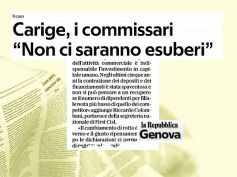 Repubblica, Carige, i commissari rassicurano, non ci saranno esuberi