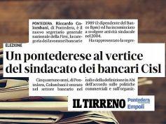Il Tirreno, First Cisl, Riccardo Colombani è il nuovo segretario