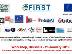 Welfare contrattato, se ne discute a Bruxelles, workshop promosso da First Cisl