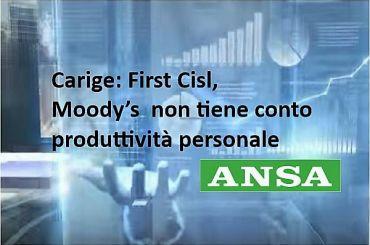 Carige, Colombani, strano che a Moody's non interessi produttività personale