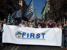 Manovra, First Cisl alla manifestazione Cgil Cisl Uil di Roma