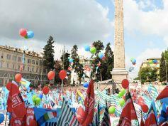 Manovra, Manifestazione Cgil Cisl Uil il 9 febbraio a Roma, il Volantone