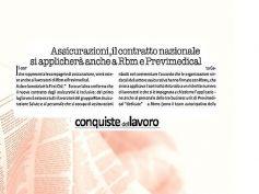 Contratto assicurativi, First Cisl, nuovo accordo esteso a Rbm e Previmedical