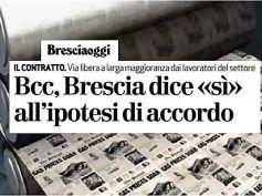 Contratto Bcc, First Cisl Brescia, via libera dei lavoratori con condivisione