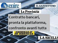I titoli dei giornali sul rinnovo del contratto dei lavoratori delle banche