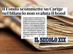 Carige, Il Secolo XIX, Cisl e First Cisl, piano non punta a rilancio banca
