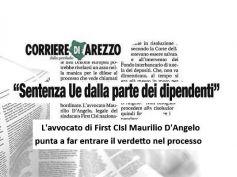 Corriere di Arezzo, sentenza Ue su Tercas entrerà nel processo ex Banca Etruria