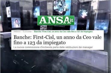 Ansa, Colombani, commissione banche parta da gap stipendio dipendenti e manager