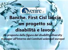 Avvenire su disabilità e lavoro in banca, First Cisl punta a piena inclusione