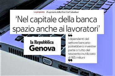 Repubblica su Carige, Colombani propone spazio ai lavoratori nel capitale banca