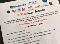 Disability manager, First Cisl e Eu-Osha ne discutono a Bilbao