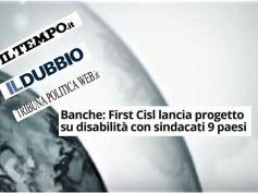First Cisl e sindacati europei in un progetto su disabilità e lavoro in banca