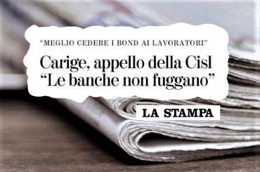 La Stampa su Carige, Colombani, se banche rinunciano cedano bond ai lavoratori