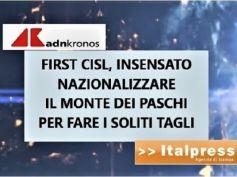 Adnkronos e Italpress su futuro Mps, Colombani, non nazionalizzare per tagliare
