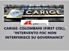 Carige, Colombani, intervento Foc risponde a stesse esigenze Schema volontario