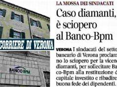 Diamanti, 20 maggio sciopera Banco Bpm, Adiconsum, nullo confronto con banca