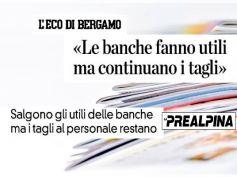L'Eco di Bergamo e La Prealpina, dati First CIsl, banche in utile facendo tagli