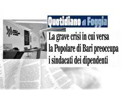 Cresce il timore in Banca Popolare di Bari, preoccupati dipendenti e sindacati