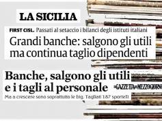 La Sicilia e La Gazzetta del Mezzogiorno, crescita banche con taglio personale