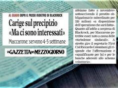 La Gazzetta del Mezzogiorno, Colombani, nessuna turbolenza sindacale su Carige