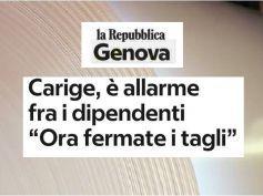 Repubblica, Carige, bancari in piazza, First Cisl per salvare economia e lavoro