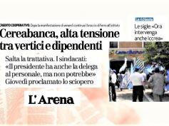First Cisl, in CereaBanca non si dialoga, il 13 giugno dipendenti in sciopero