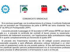 Berloco, in Apulia Prontoprestito salvati 35 lavoratori, accordo win win