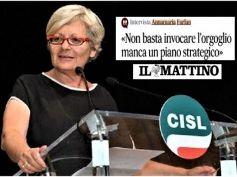 Annamaria Furlan intervistata dal Mattino, manca un piano strategico per il Sud