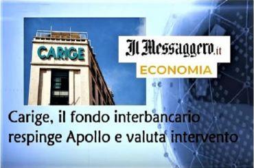 Il Messaggero, piano B per Carige, Colombani, verso direzione da noi auspicata