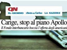 QN, stop ad Apollo per Carige, Colombani, con il Foc governance con lavoratori
