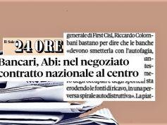 Il Sole 24 Ore, al via confronto su Ccnl, Colombani, banche elimino autofagia
