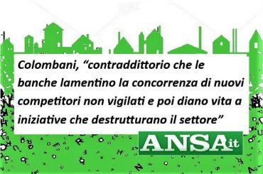Colombani all'Ansa, accordo tra Banca 5 e Sisal è esternalizzazione mascherata