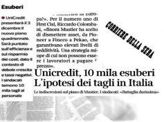 Corsera, UniCredit taglia, Colombani, lavoratori non paghino vendite asset