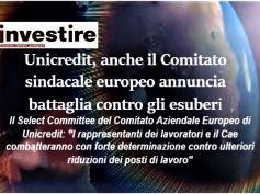 UniCredit, anche il comitato sindacale europeo contro esuberi, serve confronto