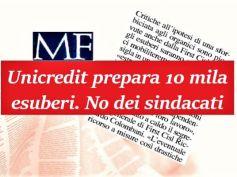 Tagli in UniCredit, Colombani, se esuberi confermati ci mobiliteremo