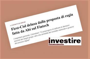 InvestireMag, Colombani, proposta Abi su processi digitalizzazione è deludente