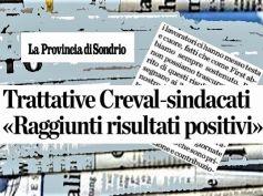 Accordo Creval, ottenuti risultati positivi e risolte diverse questioni sospese