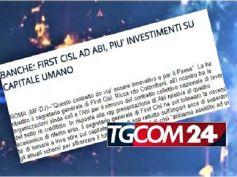 Ccnl banche, Colombani al TgCom24, investimento è puntare sul capitale umano