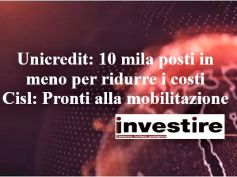 UniCredit, tagli per 10.000 posti, First Cisl, pronti a mobilitazione