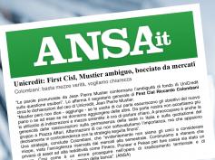 Colombani all'Ansa, su UniCredit basta mezze verità, vogliamo chiarezza