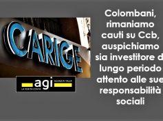 Agi, ok a salvataggio Carige, Colombani, buona notizia per economia nazionale