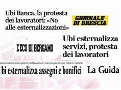 Esternalizzazioni Ubi Banca, no da sindacati e lavoratori, protesta in 8 città