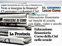 Lezioni di educazione finanziaria a scuola, iniziativa di Cisl e First Cisl