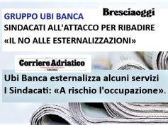 Ubi Banca esternalizza, sindacati, situazione grave con occupazione a rischio