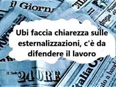 Ubi esternalizza, la protesta sui giornali, nuovo confronto il 17 settembre