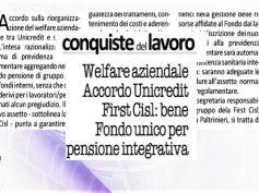 UniCredit, siglata intesa su welfare, First Cisl, accordo ampiamente positivo